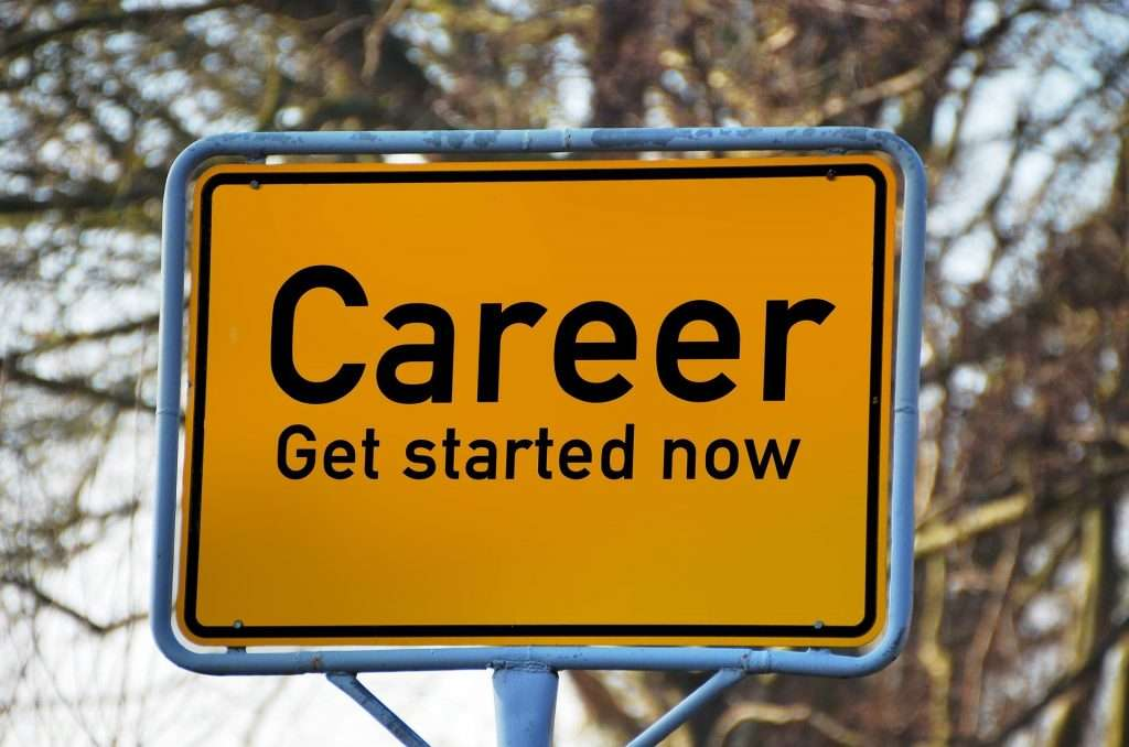 career path on a sign board
